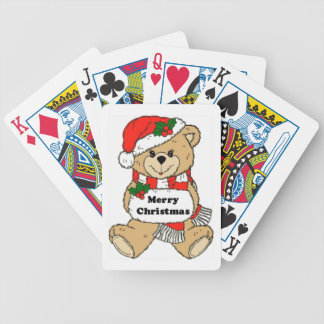 Mensaje del oso de peluche del navidad baraja