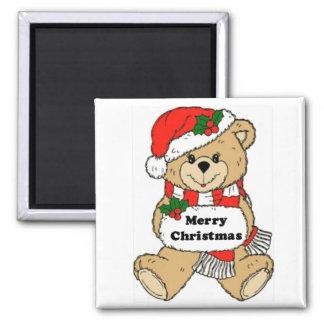 Mensaje del oso de peluche del navidad imanes para frigoríficos