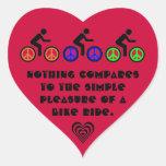 mensaje del paseo de la bici pegatinas corazon