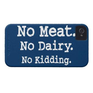 Mensaje del vegano con actitud Case-Mate iPhone 4 funda