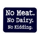 Mensaje del vegano con actitud imanes