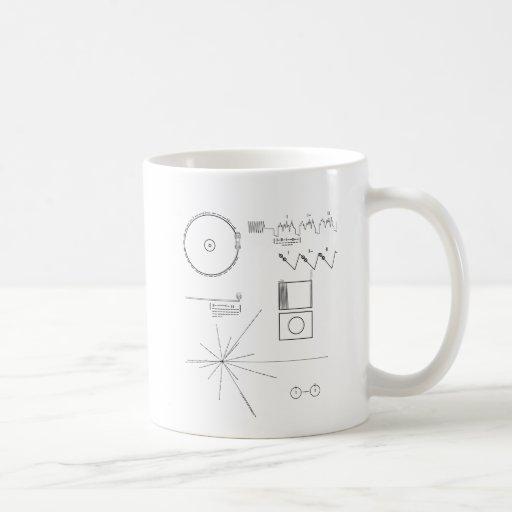 Mensaje del viajero taza