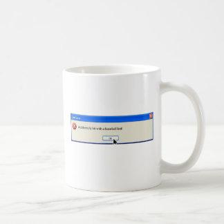 Mensaje divertido del ordenador del error no taza de café