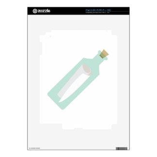 Mensaje en botella calcomanías para iPad 2