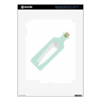 Mensaje en botella pegatinas skins para iPad 3