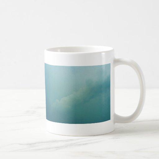 Mensaje en el cielo tazas de café