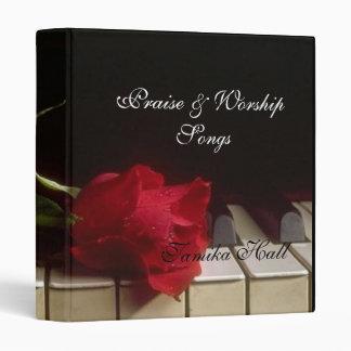 """Mensaje en el cuaderno de Avery de la música Carpeta 1"""""""