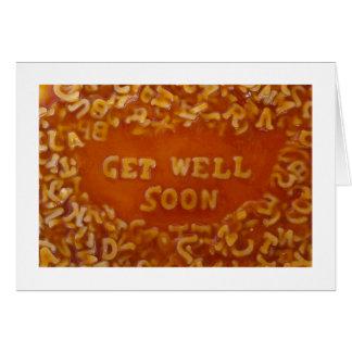 Mensaje en mis tarjetas de la sopa: Consiga bien p