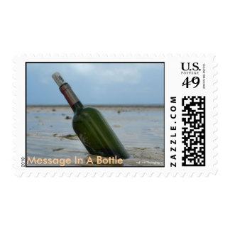Mensaje en un sello de la botella