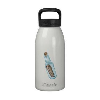Mensaje en una botella botella de beber