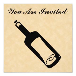 """Mensaje en una botella invitación 5.25"""" x 5.25"""""""