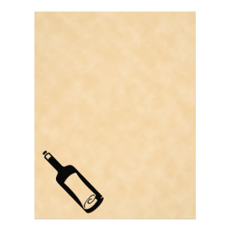 Mensaje en una botella membrete a diseño