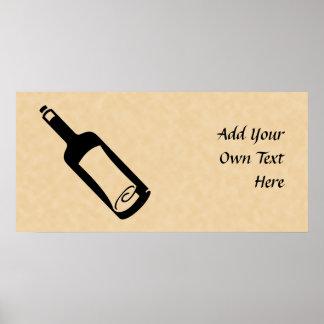 Mensaje en una botella póster