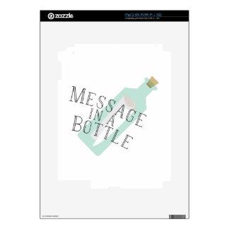 Mensaje en una botella skins para iPad 2