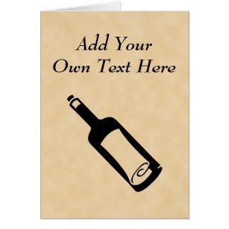 Mensaje en una botella tarjeta de felicitación
