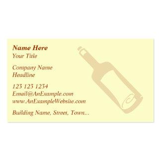 Mensaje en una botella tarjetas de visita