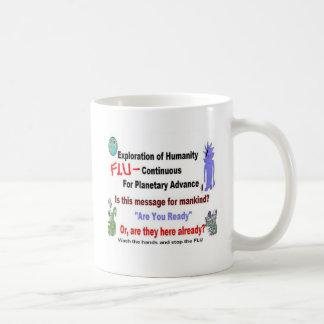 Mensaje extranjero del misterio de la gripe taza