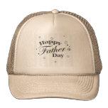 Mensaje feliz del día de padre gorra