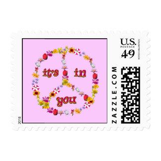 Mensaje floral del sello de la paz
