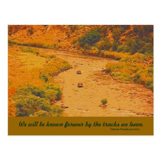 Mensaje indio de la tribu de Dakota Postales