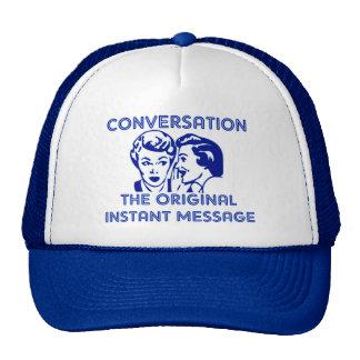 Mensaje inmediato original gorra
