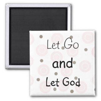 Mensaje inspirado imán cuadrado