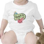 Mensaje lindo del vegano traje de bebé