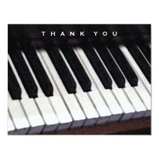 """mensaje música-temático del de agradecimiento invitación 4.25"""" x 5.5"""""""