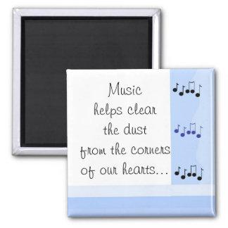 Mensaje musical imán cuadrado