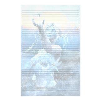 Mensaje para el cielo del padre inmóvil papeleria de diseño