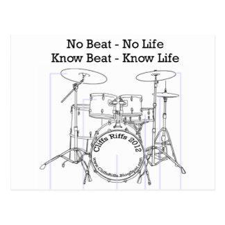 Mensaje positivo para los baterías, músicos, baila postal