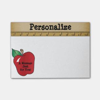 Mensaje rojo de Apple Notas Post-it