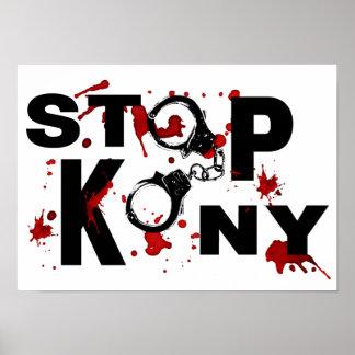 Mensaje salpicado sangre de la PARADA KONY Posters
