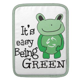 Mensaje verde fundas para iPads