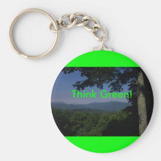 Mensaje verde llaveros personalizados