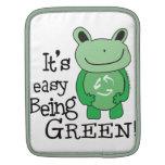 Mensaje verde manga de iPad