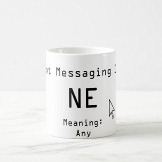 Mensajería 101 de Txt Taza De Café