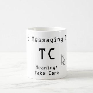 Mensajería 101 de Txt Taza
