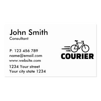 Mensajero de la bici tarjetas de visita