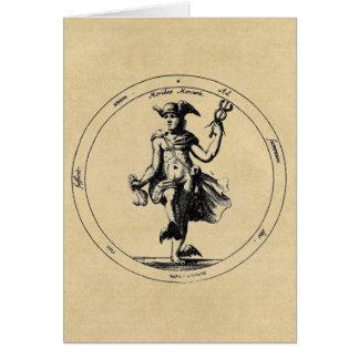 Mensajero de Mercury - de Hermes de dioses Felicitacion
