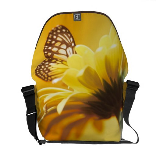 Mensajero de oro del carrito de la mariposa y de l bolsa de mensajería