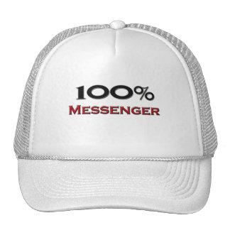 Mensajero del 100 por ciento gorros