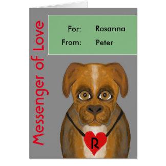 Mensajero del amor tarjeta de felicitación