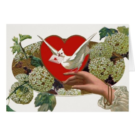 Mensajero del el día de San Valentín Tarjeta Pequeña