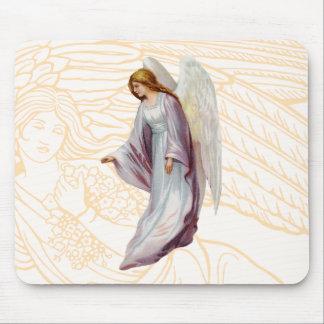 Mensajero hermoso del ángel de dios tapete de raton