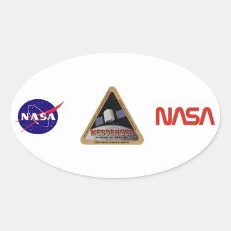 MENSAJERO - misión orbital en Marte Calcomanías Ovaladas