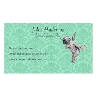 Mensajero y papel pintado de la querube tarjetas de visita