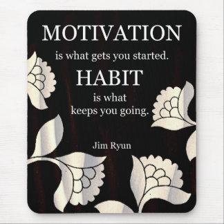 Mensajes de la motivación en Mousepad