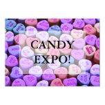 Mensajes del corazón del caramelo fijados anuncio personalizado