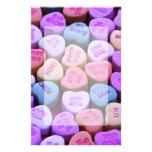 Mensajes del corazón del caramelo fijados  papeleria